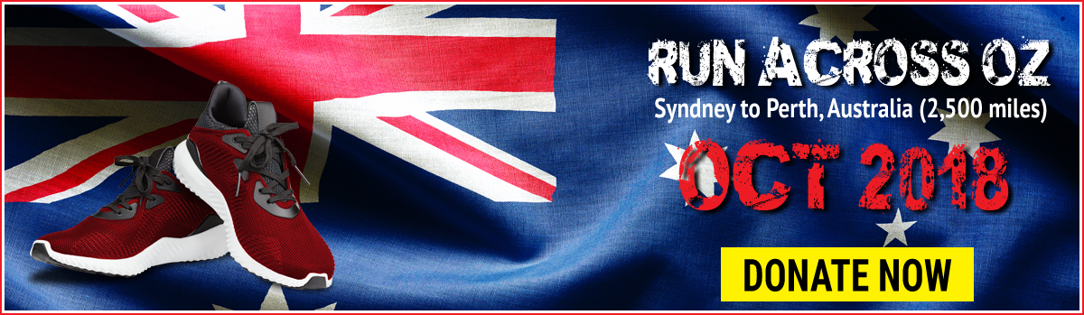 Jackson Williams Challenges Run Across Australia upcoming Challenge home page slider image