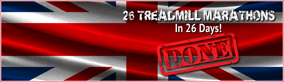 Jackson Williams Challenges 26 treadmill marathons in 26 days UK Challenge home page slider image