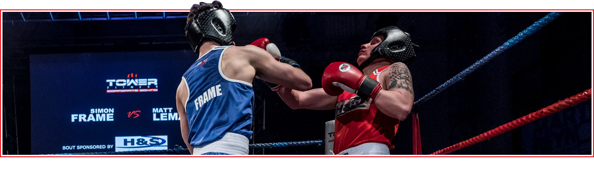 Sponsorship header for the Tower Fitness Corporate Boxing website in Norwich