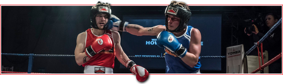 Platinum Sponsorship header for the Tower Fitness Corporate Boxing website