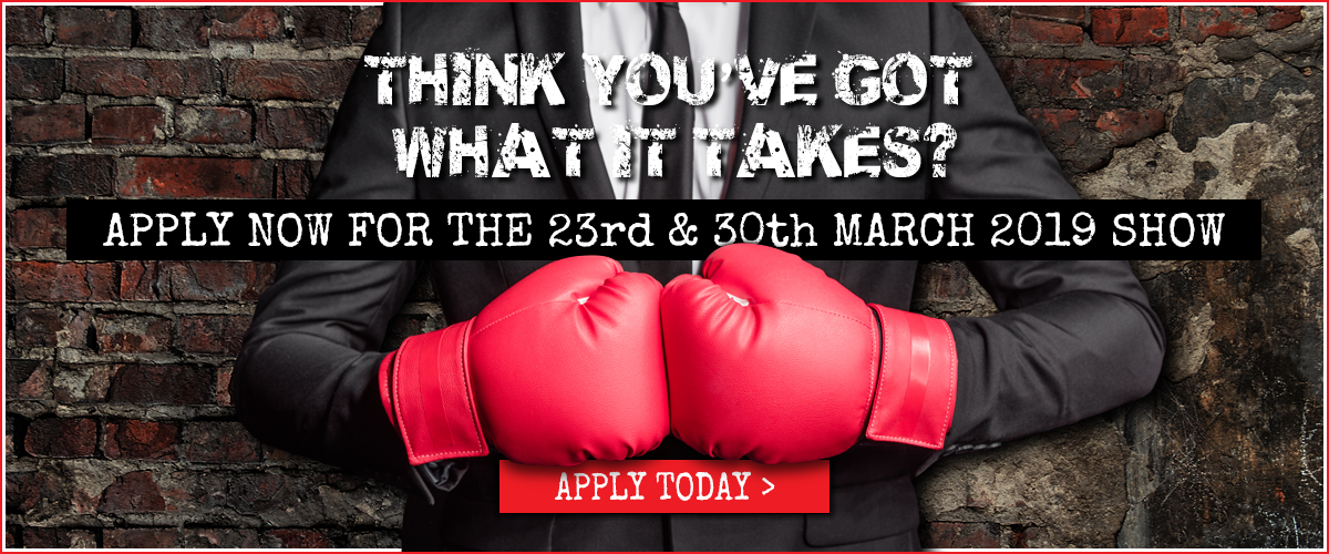 Apply now for the 23rd & 30th March 2019 show at Tower Fitness